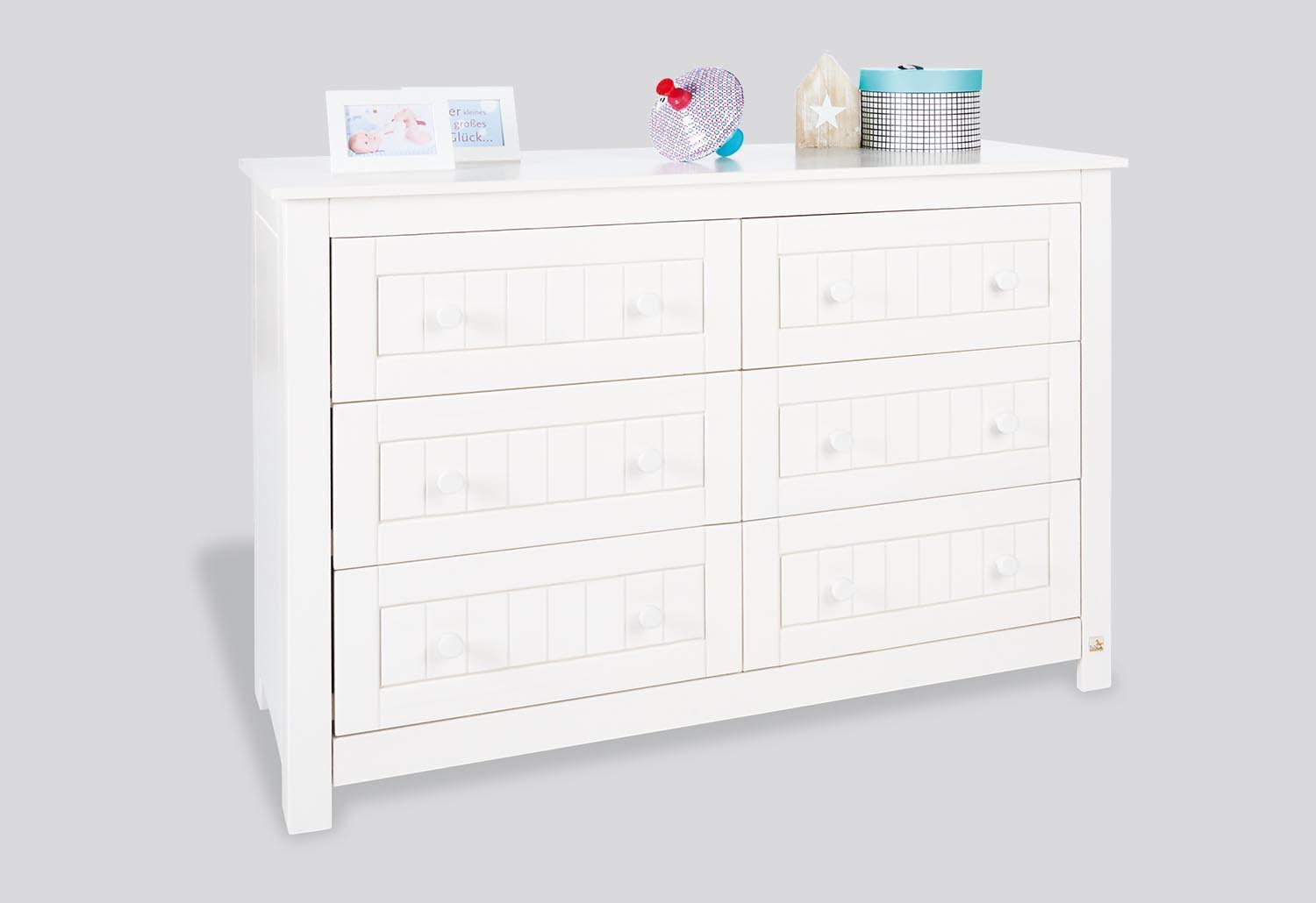 Commode langer nina blanche extra large en pin for Commode table a langer blanche