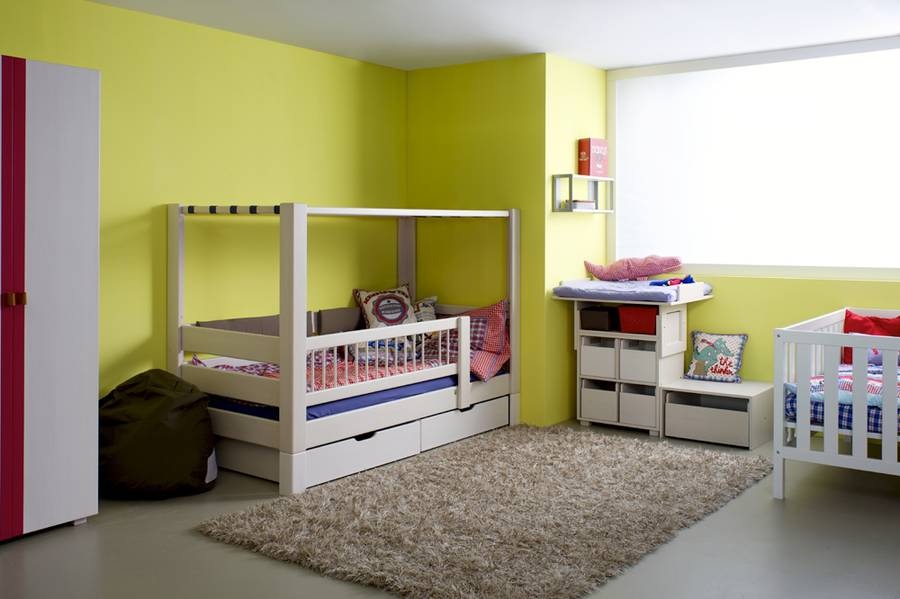 lit enfant baldaquin en h tre naturel kubu bariolages. Black Bedroom Furniture Sets. Home Design Ideas