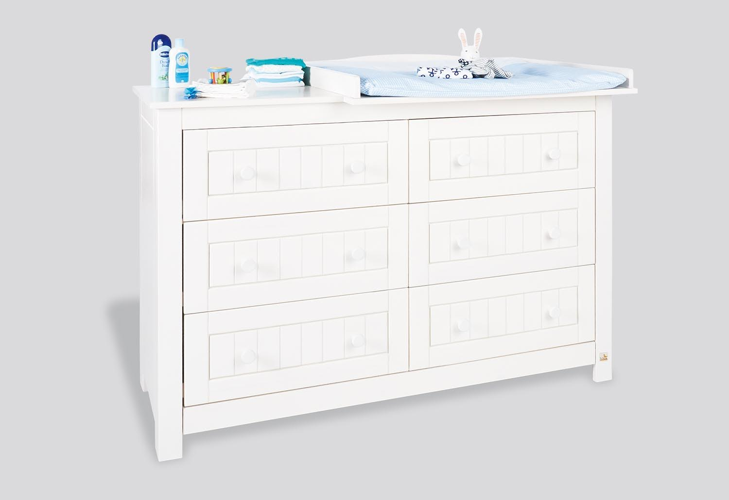Commode A Langer Nina Blanche Extra Large En Pin Massif